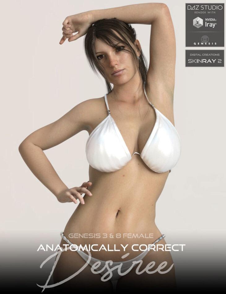 Anatomically Correct: Desiree for Genesis 3 and Genesis 8 Female