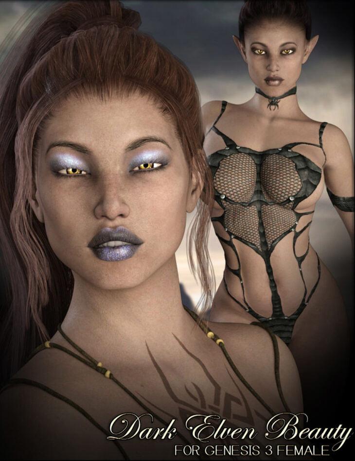 Dark Elven Beauty for G3F