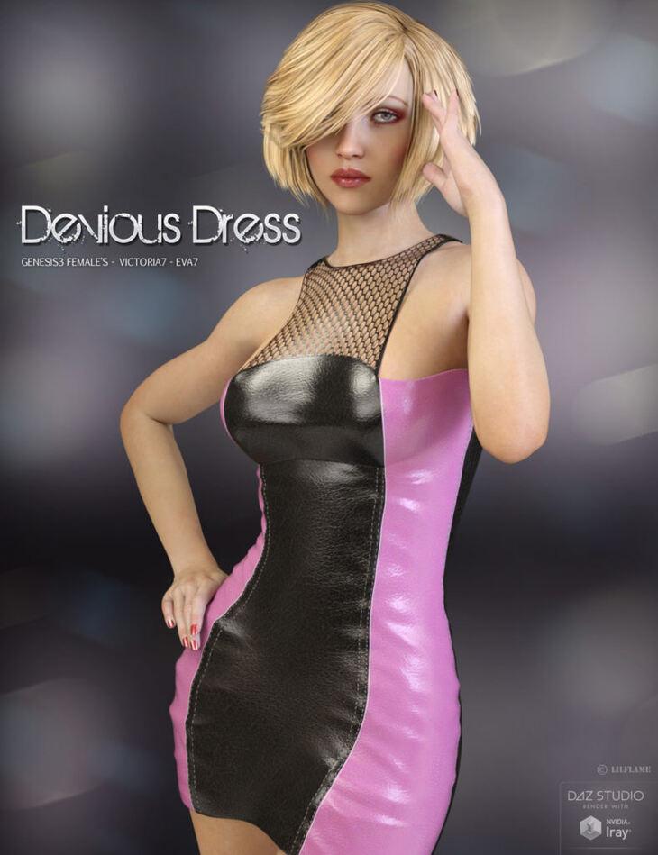 Devious Dress for Genesis 3 Females