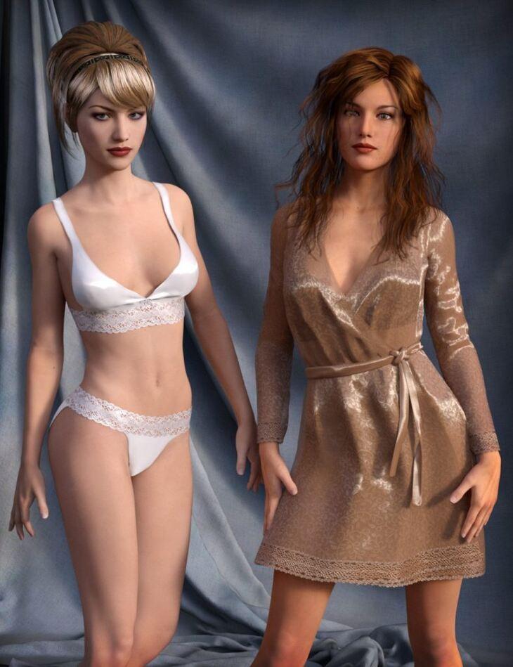 Dreamy Lingerie for Genesis 3 Female(s)
