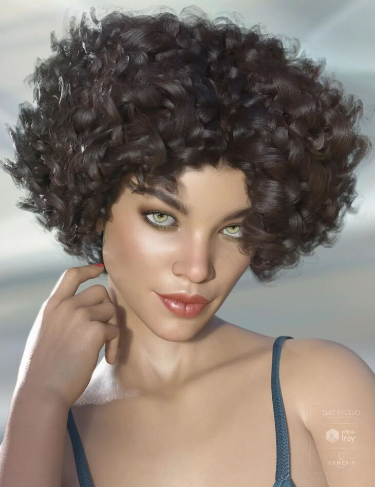 Gizelle Hair for Genesis 3 & 8 Female(s)