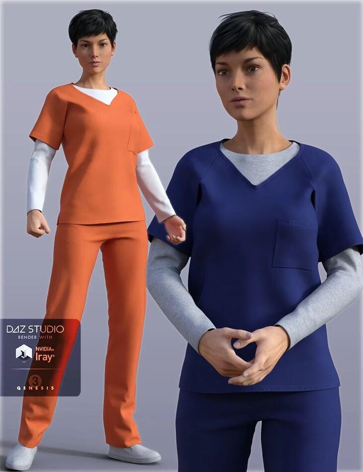 H&C Prisoner Clothing for Genesis 3 Female