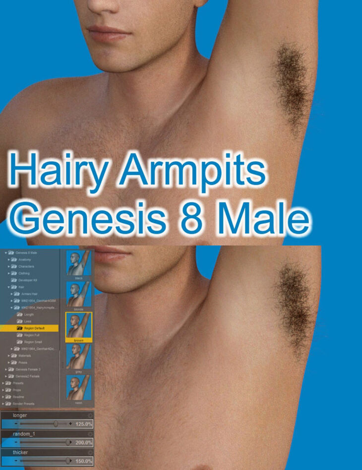 Hairy Armpits For Genesis 8 Male