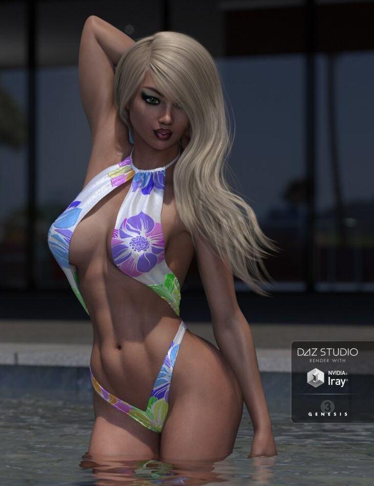 Hollywood Styles Monokini for Genesis 3 Female(s)