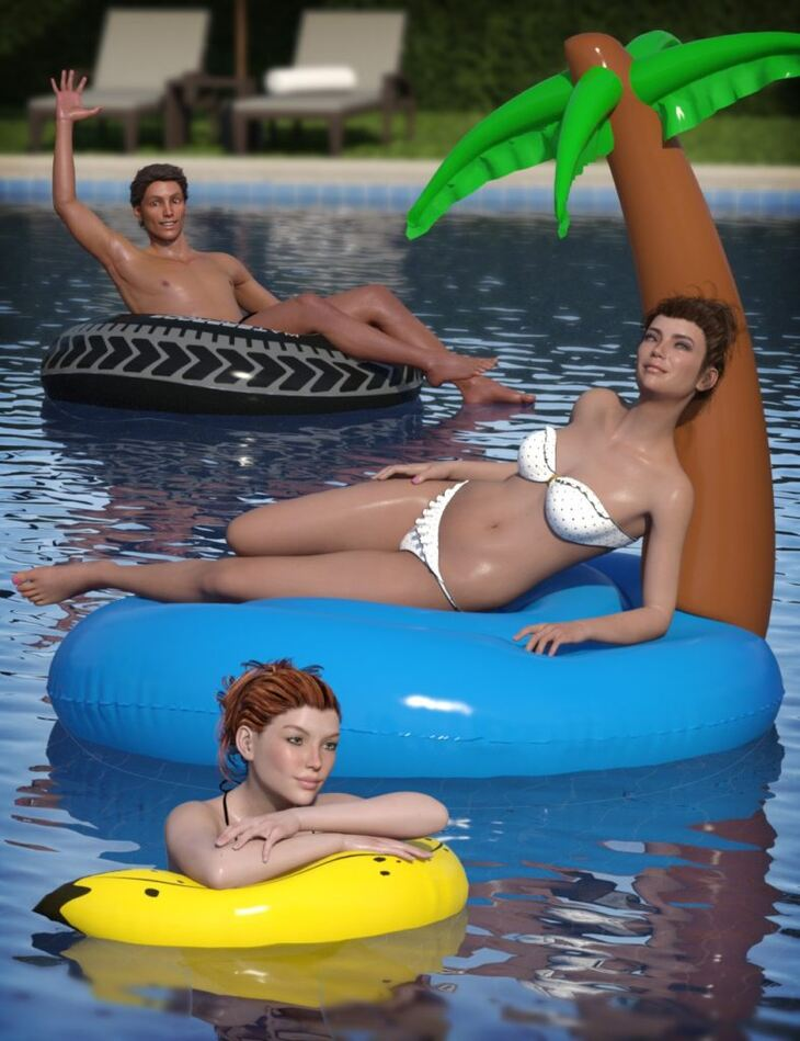 Inflatable Pool Toys & Poses for Genesis 3 and 8