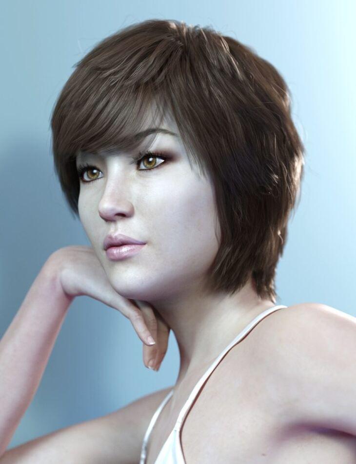 Lucinda Hair for Genesis 3 and 8 Female(s)