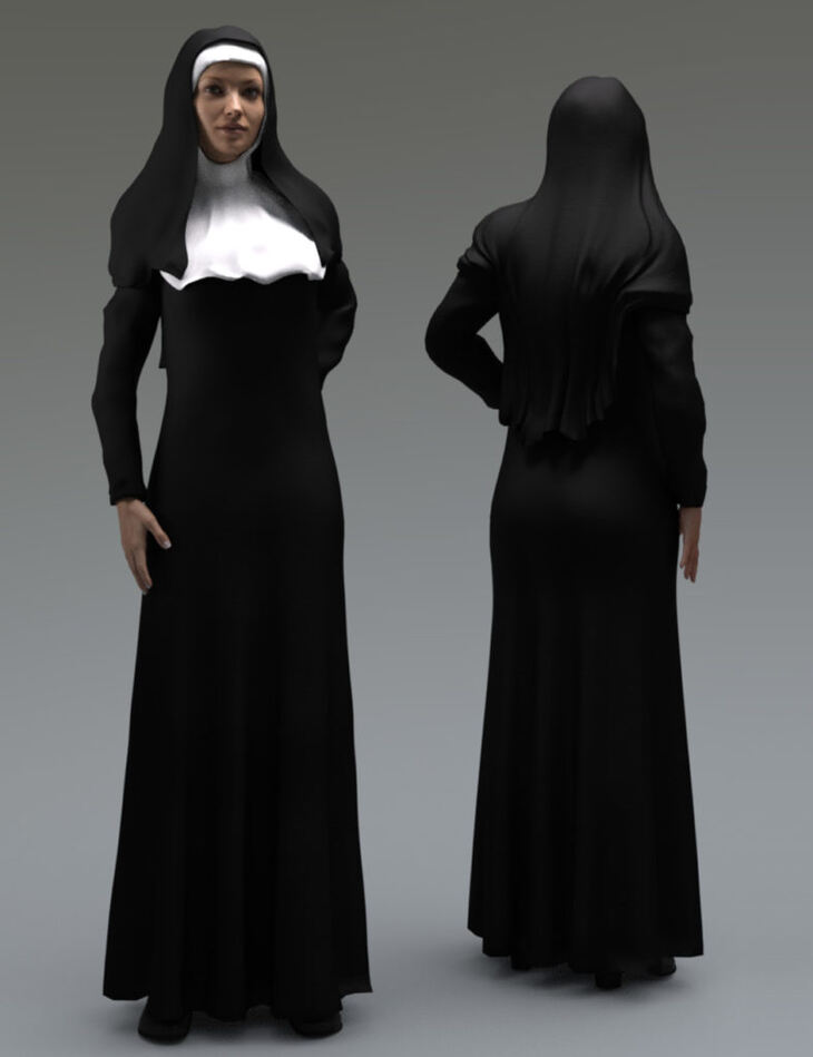 Nun Outfit for Genesis 3 Female(s)