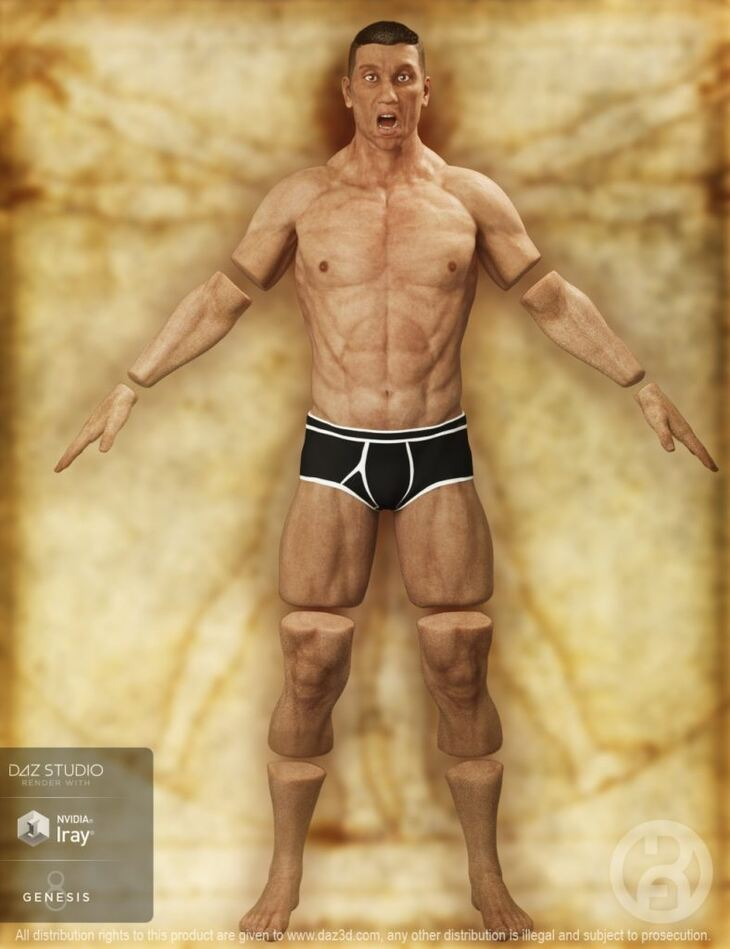 Severed Man for Genesis 8 Male(s)