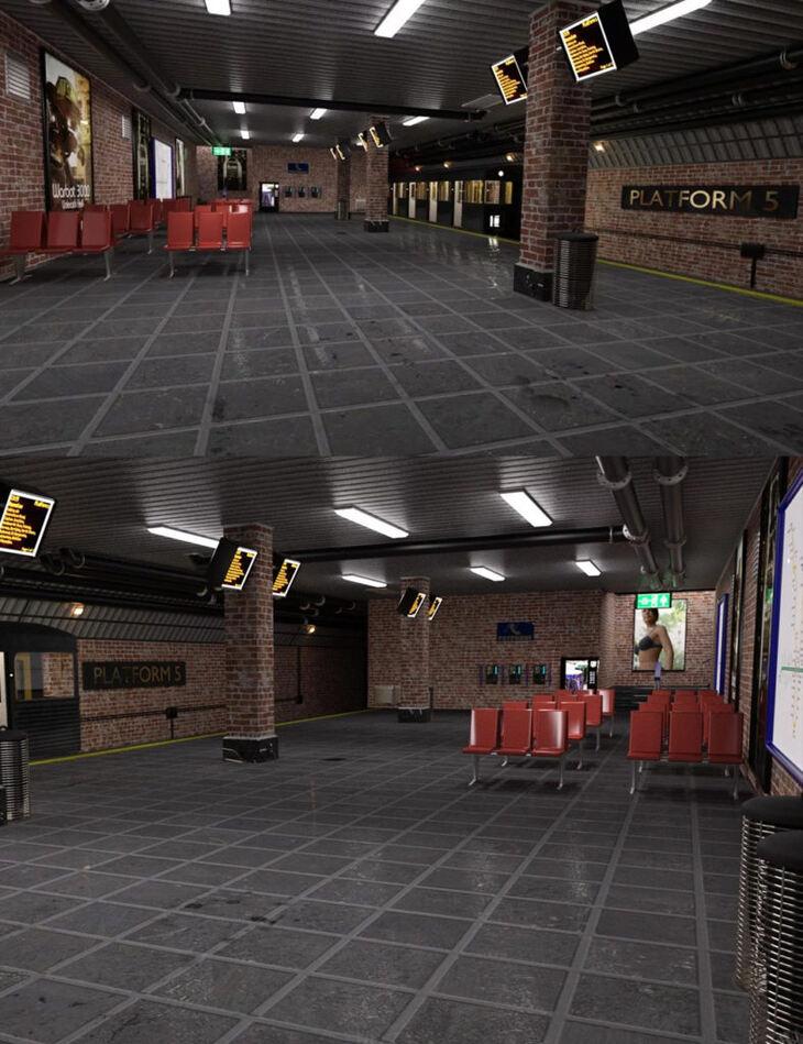Subway Platform For Iray