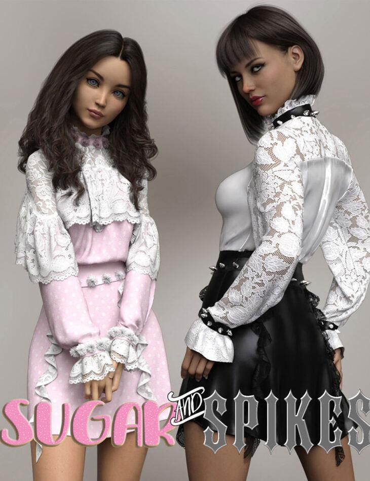 Sugar and Spikes dForce dress for Genesis 8 Females