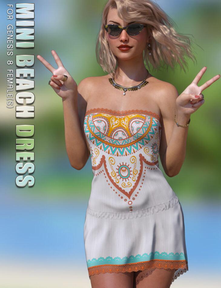 dForce Mini Beach Dress Genesis 8 Females