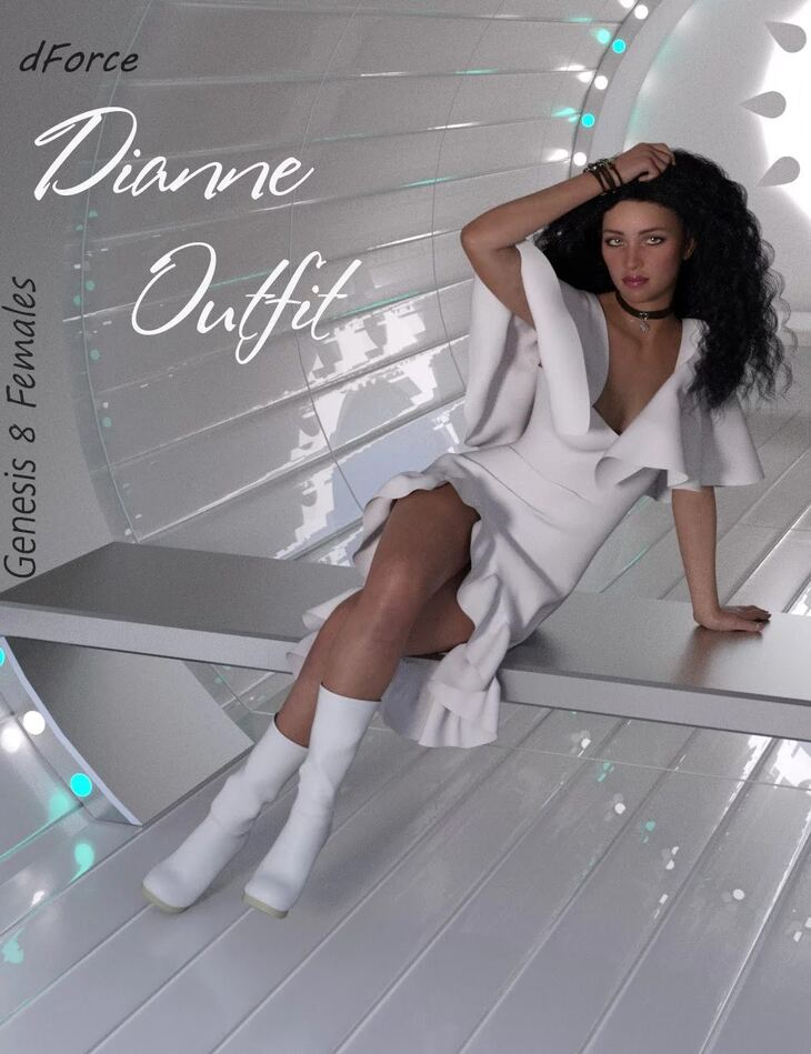 dForce Dianne Outfit for Genesis 8 Female(s)