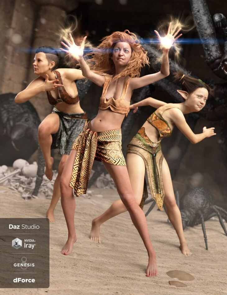 dForce Loincloth Collection for Genesis 8 Female(s)