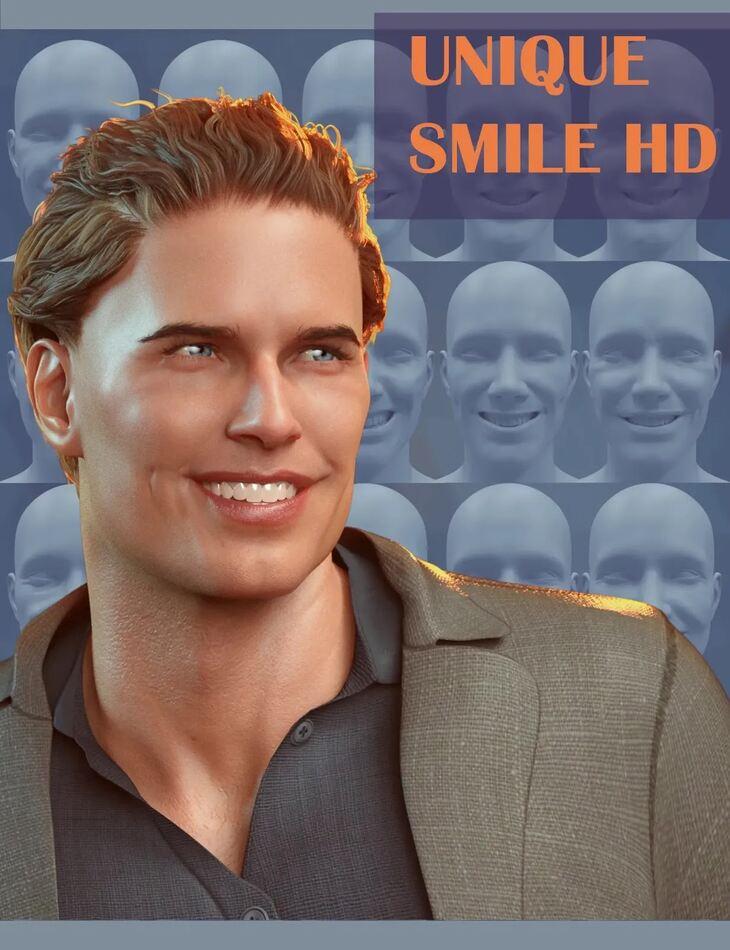 20 Unique Smiles HD for Genesis 8 Male(s)