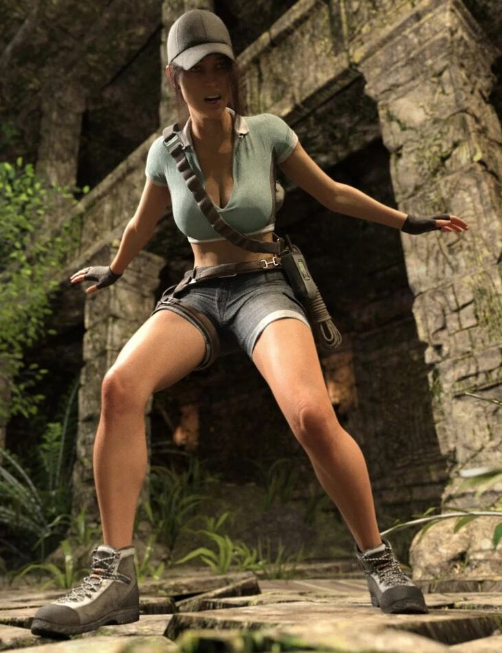 Adventure Poses, Outfit and Props for Genesis 8 Female