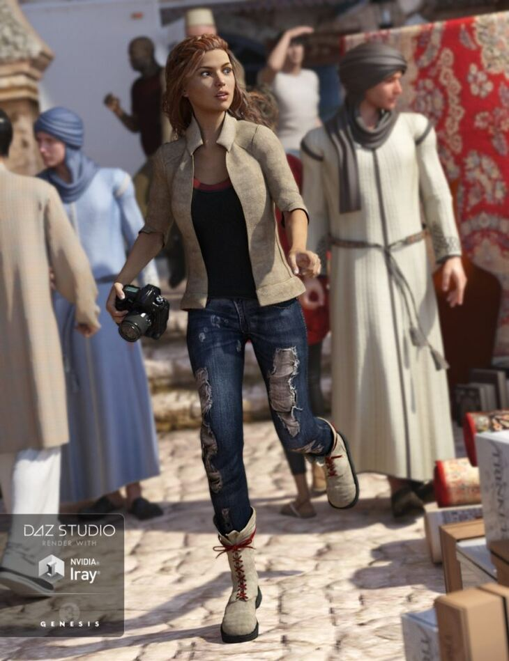 Adventure Outfit for Genesis 3 Female(s)