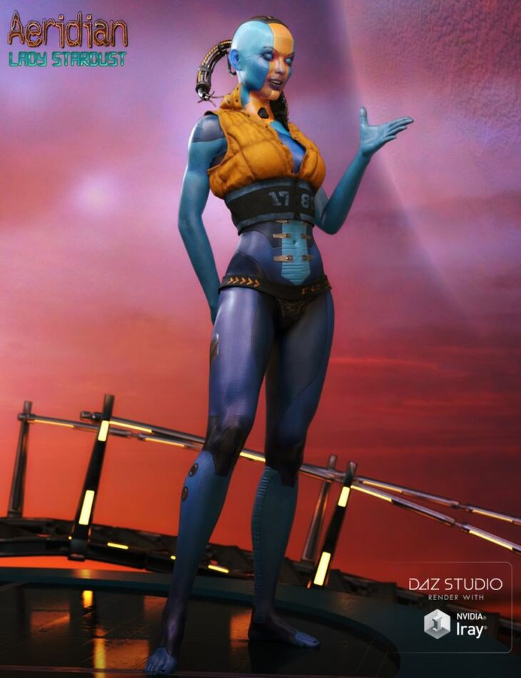 Aeridian Lady Stardust for Zelara 8 & Genesis 8 Female