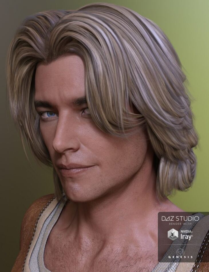 Alex Hair for Genesis 2 Male(s), Genesis 3 Male(s) and Michael 4