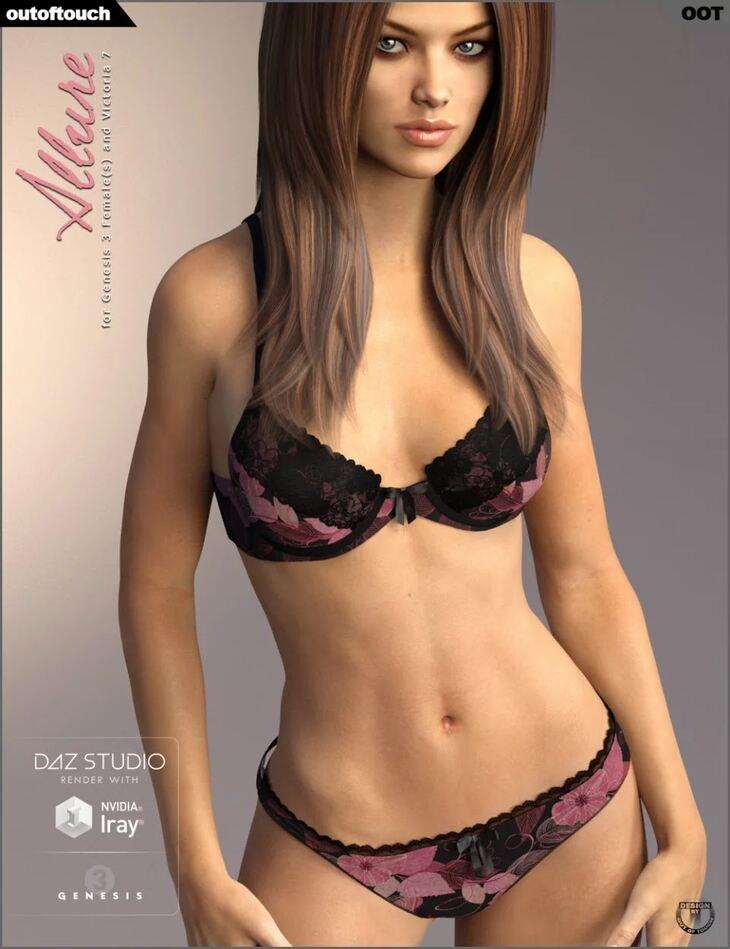 Allure Lingerie for Genesis 3 Female(s)