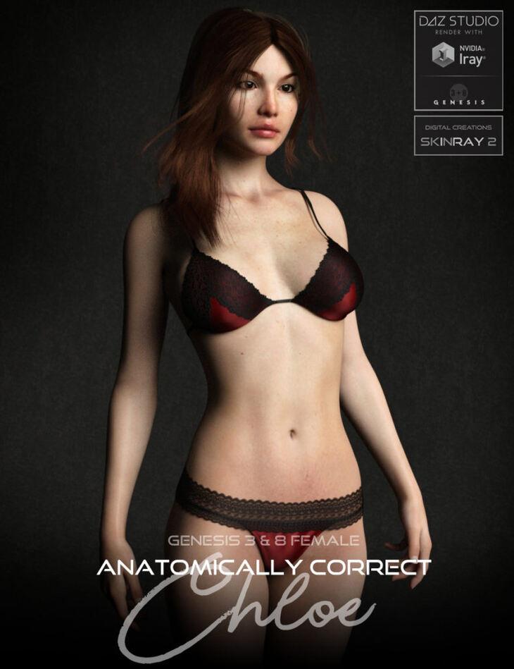Anatomically Correct: Chloe for Genesis 3 and Genesis 8 Female