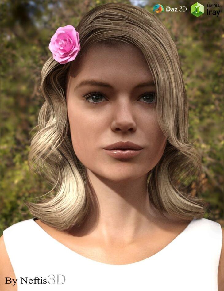 AnnaRose Hair for Genesis 3 Female(s)