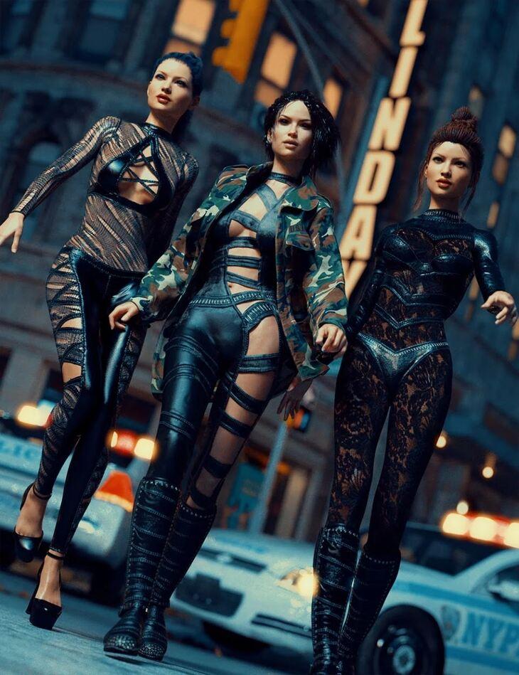 Bad Girls Textures for Genesis 3 Female(s) Super Bodysuit