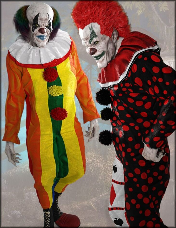 Bad Clown Clothing and Hair Textures
