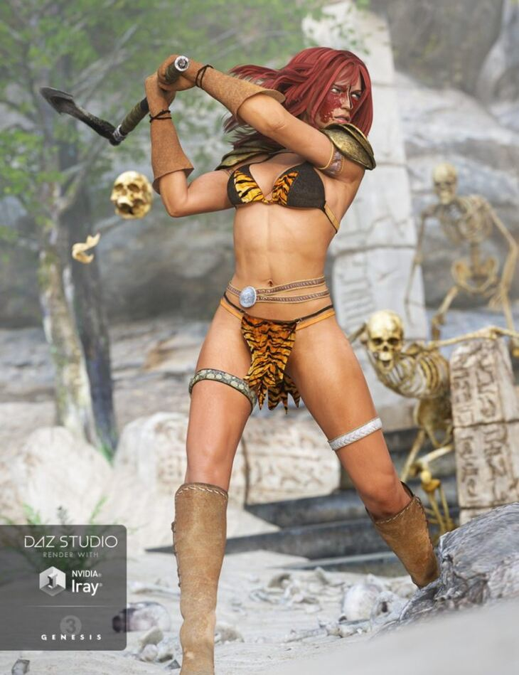 Battle Queen Outfit for Genesis 3 Female(s)