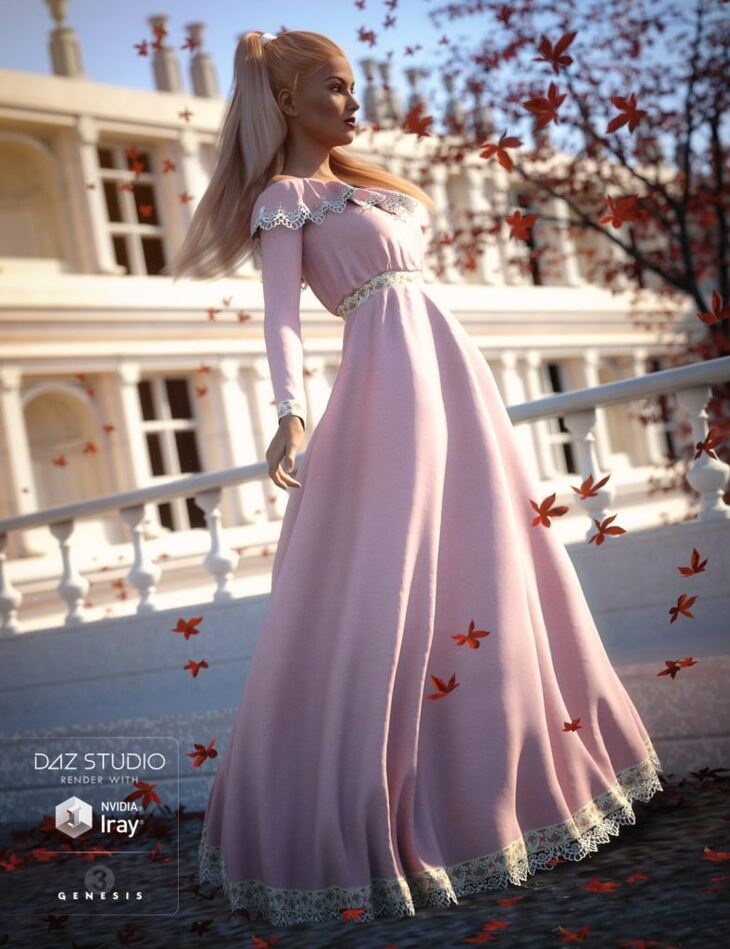Belle Dress for Genesis 3 Female(s)