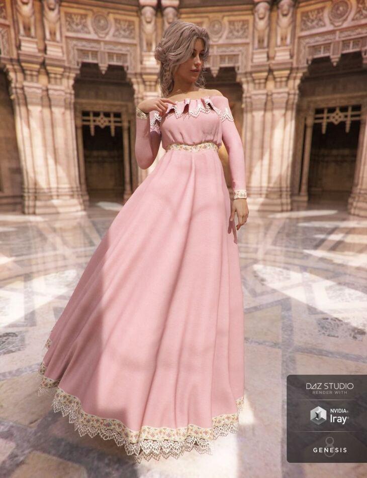 Belle Dress for Genesis 8 Female(s)