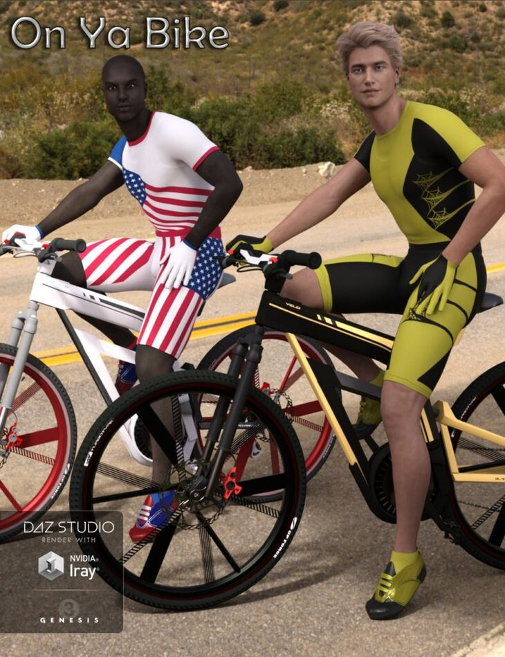Bike Race Outfit for Super Bodysuit for Genesis 3 Male(s)