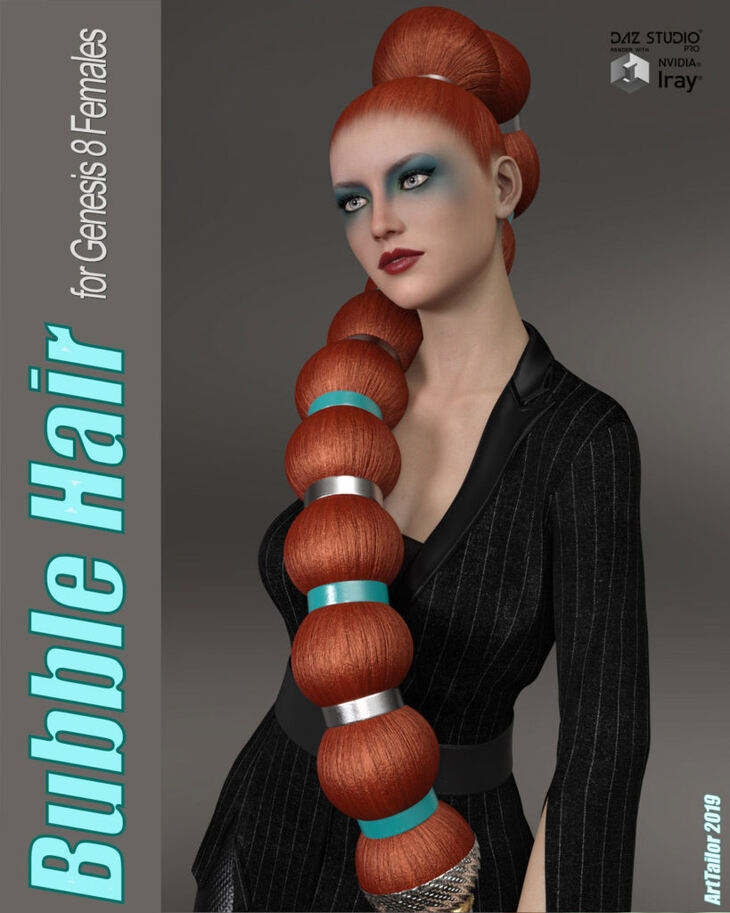 Bubble Hair for Genesis 8 Female