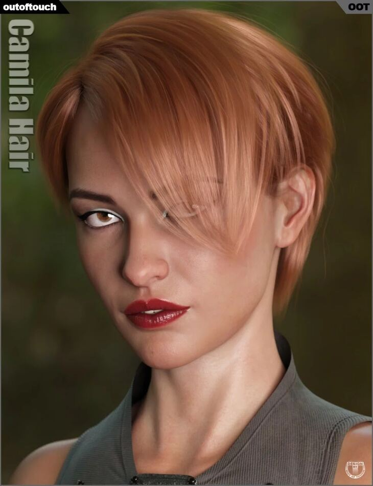 Camila Hair for Genesis 3 and 8 Female(s)
