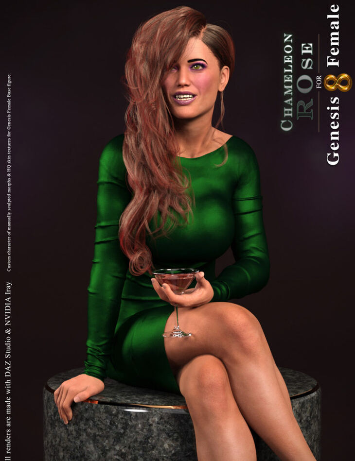Chameleon ROse for Genesis 8 Female