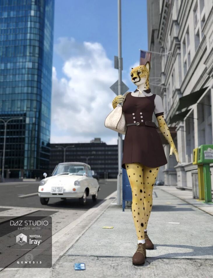 Cheetah Girl for Genesis 3 Female