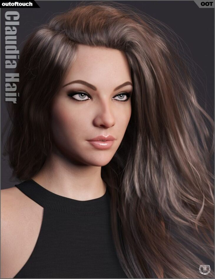 Claudia Hair for Genesis 3 and 8 Female(s)