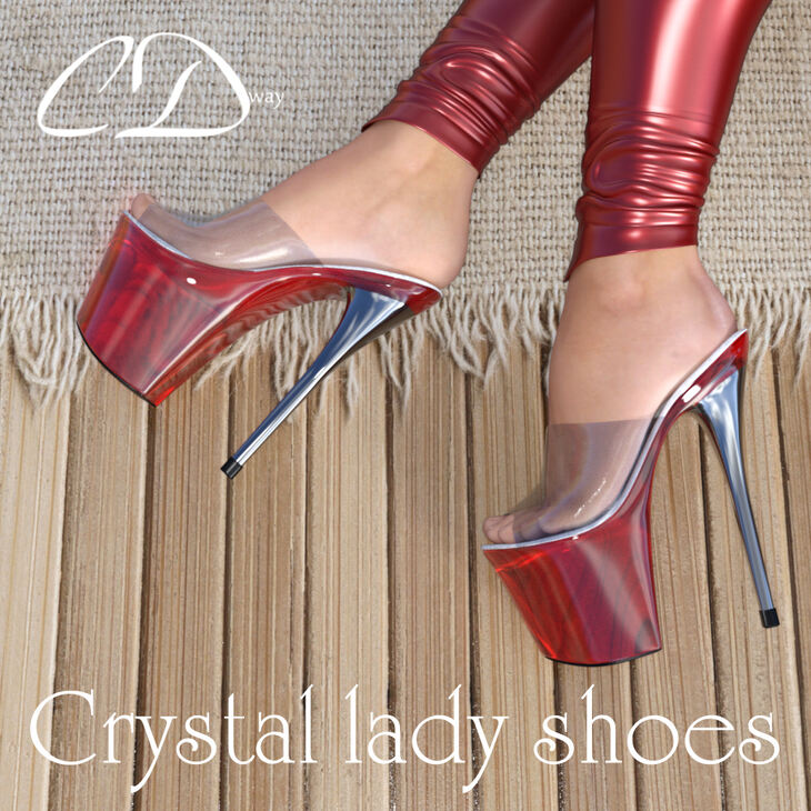Crystal Lady Shoes for G3F