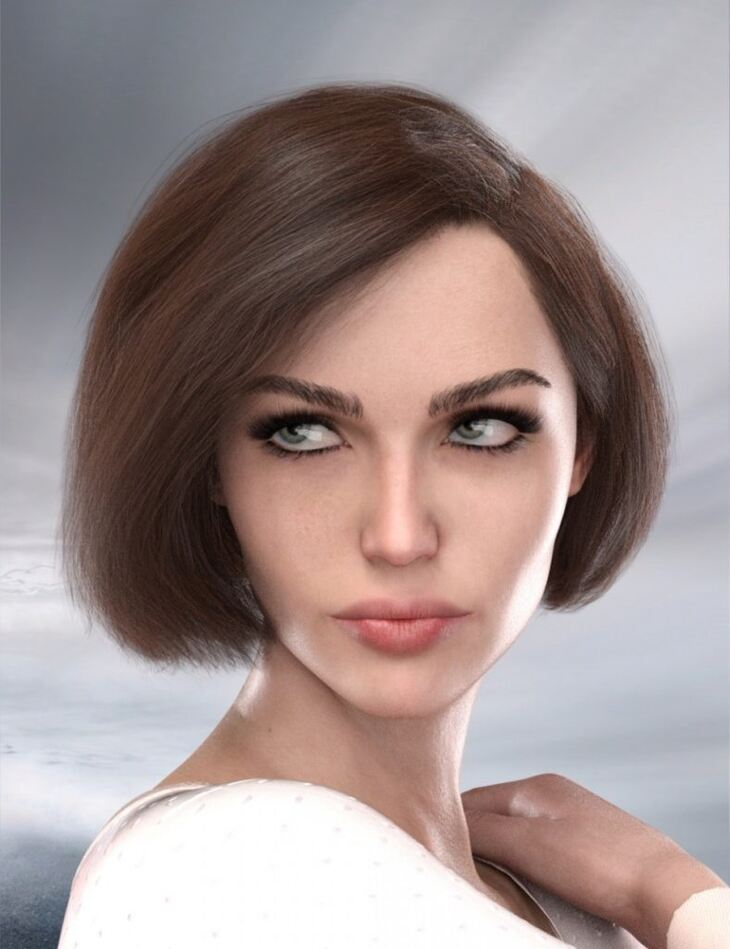 Cute Bob Hair for Genesis 3 and 8 Female(s)