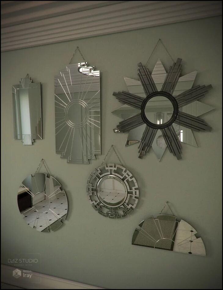 Deco Mirror Set