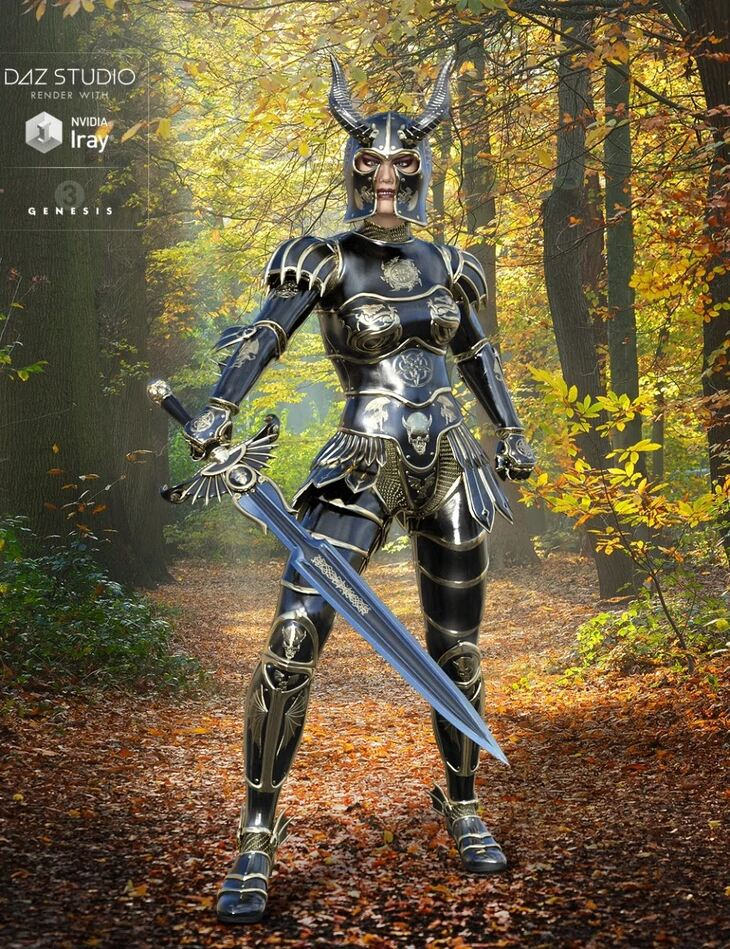 Demon Armor for Genesis 3 Female(s)