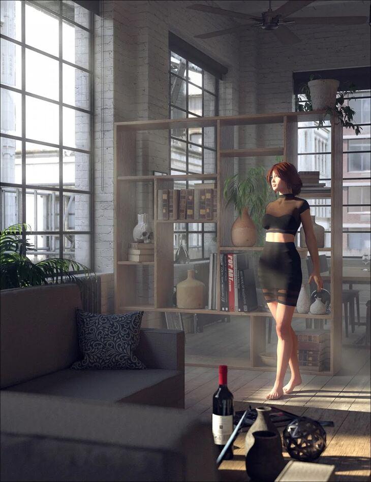 Downtown Loft: Living Area