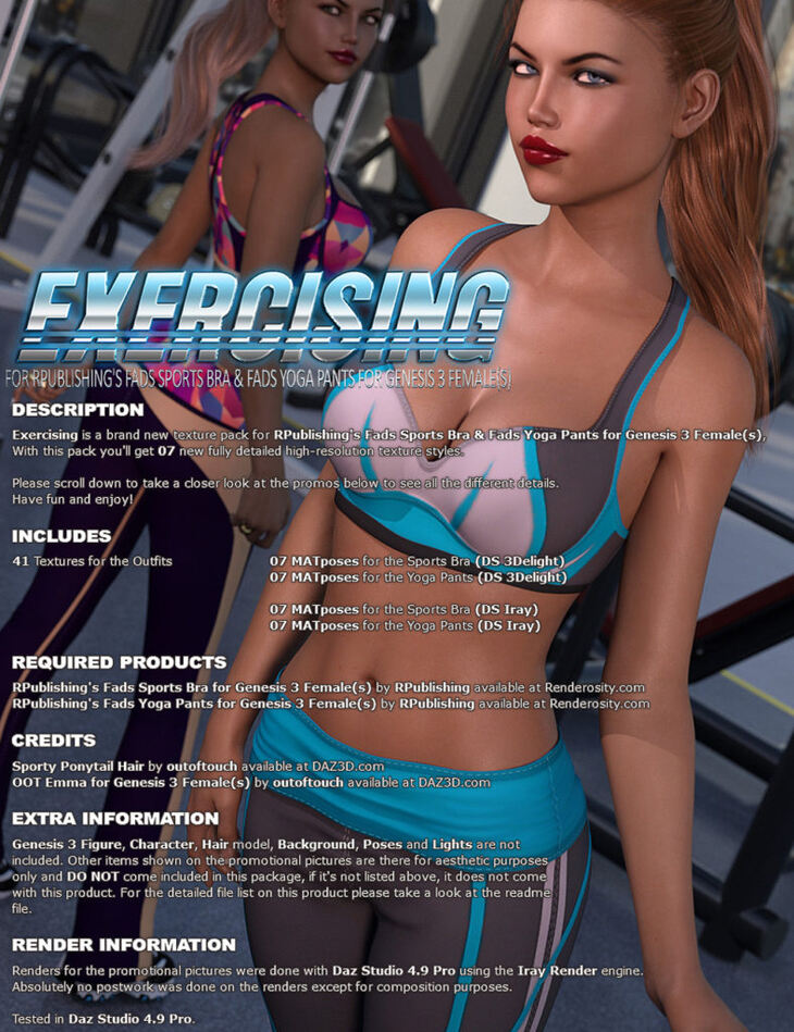 Exercising for Fads Yoga Pants & Sports Bra