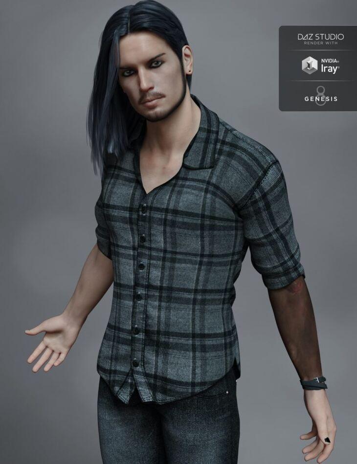 FW Kieron HD for Genesis 8 Male and LI Kieron Whiskers