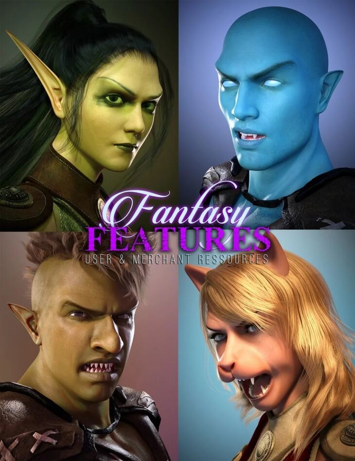 Fantasy Features for Genesis 3 BUNDLE