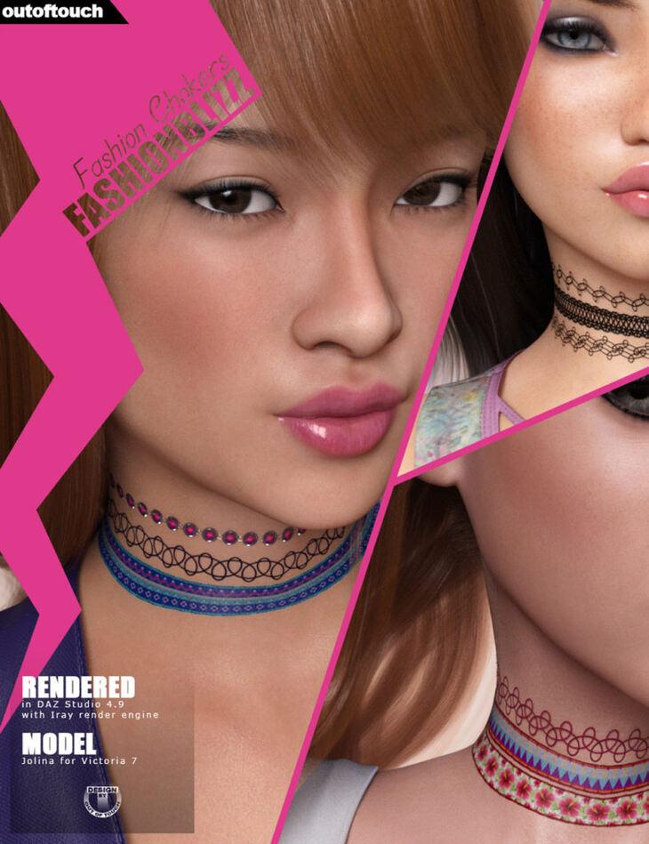 Fashion Blizz: Fashion Chokers for Genesis 3 Female(s)