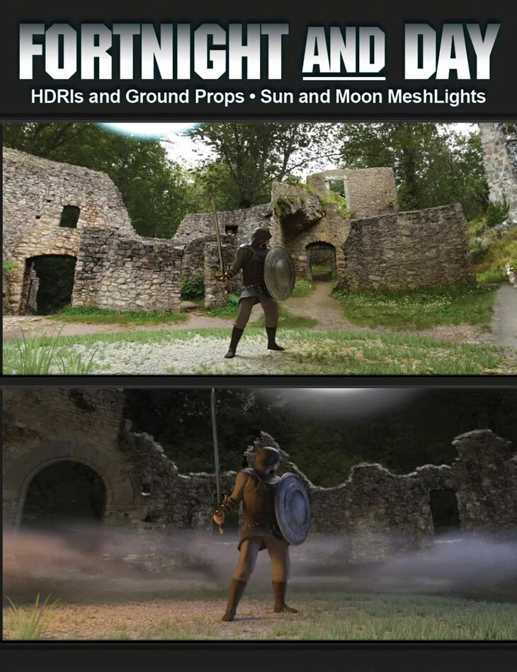 FortNight and Day HDRI and Props