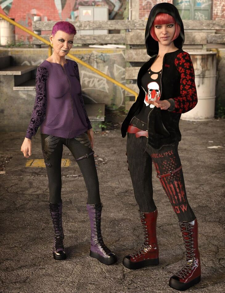 Gothy Punk Outfit Textures