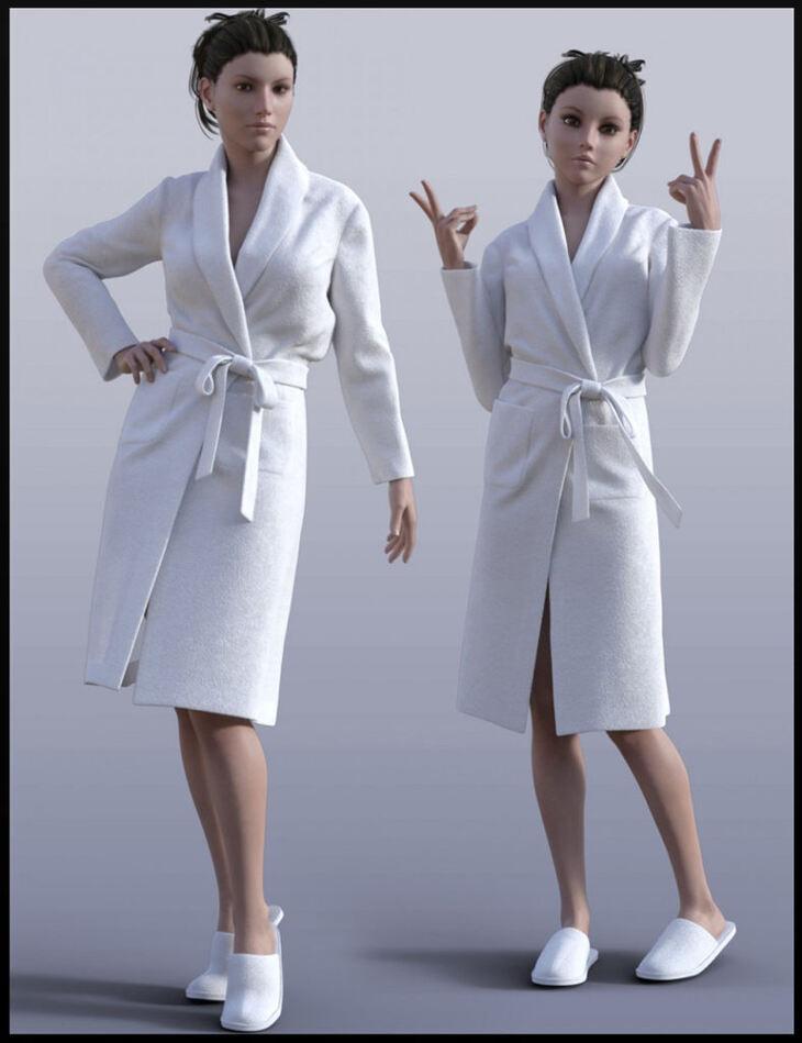 H&C Bathrobe Set for Genesis 3 Female(s)