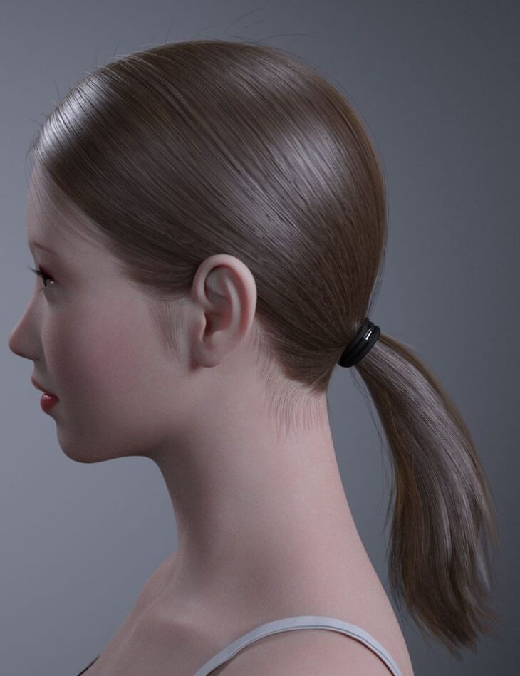 HY Ponytail LowBun Hair for Genesis 3 and 8 Female(s)