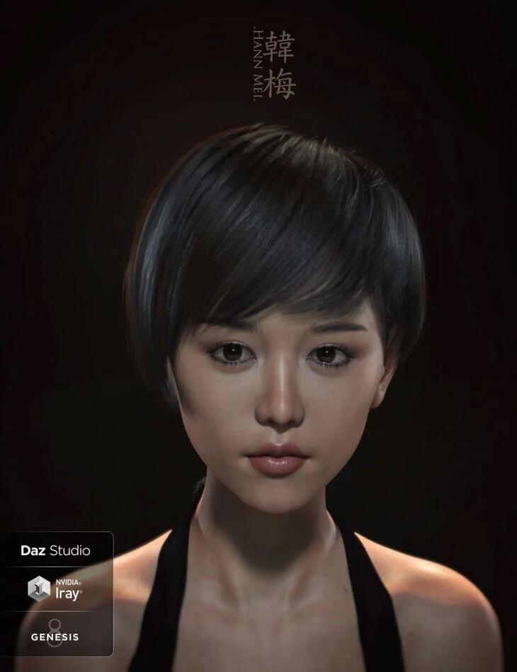 Hann Mei and Hann Mei Short Hair for Genesis 8 Female
